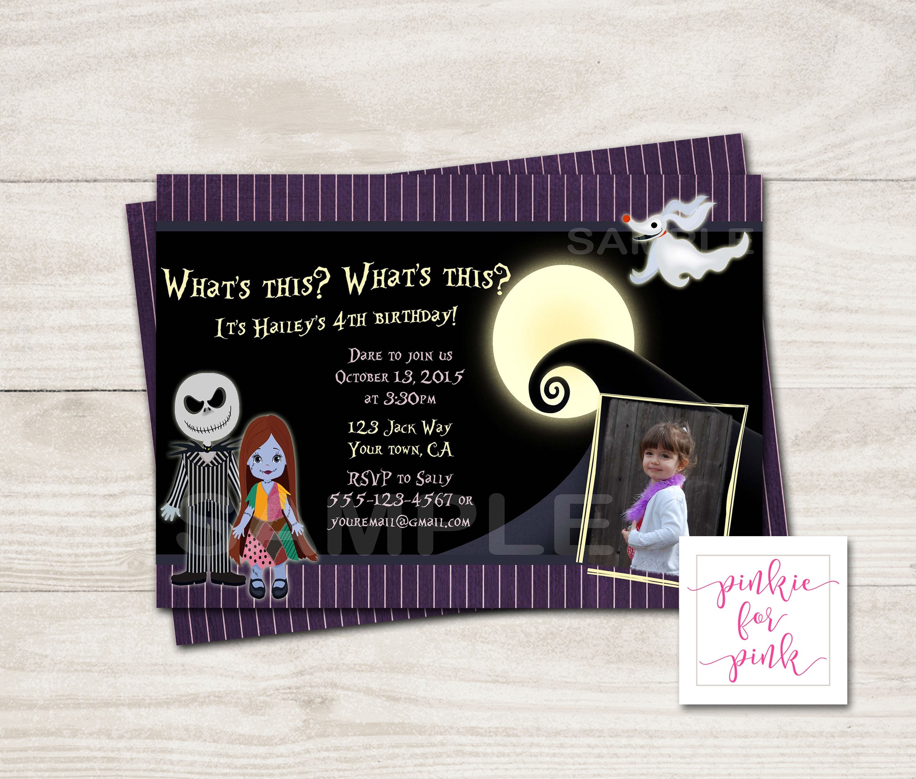 Personalized The Nightmare Before Christmas Birthday Party | Etsy