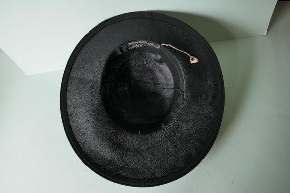 DEADSTOCK - Never Used 1930s Vintage Wide Brim Bl… - image 7