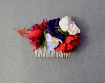 Wildflower - Floral Comb - Fascinator