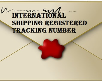 International Letter shipping registered tracking number with assurance