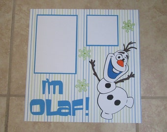 Frozen OLAF 12x12 Premade Srapbook Page