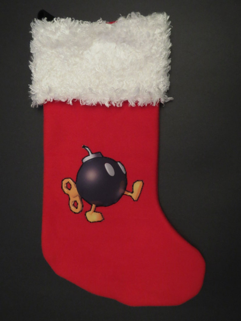 Super Mario Christmas Stocking.Super Mario Bros Christmas Stocking