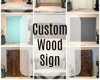 Custom Wood Sign- Personalized and One of a Kind! Custom Designed, Rustic, Cedar, Painted, Barn Wood