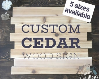 Custom Cedar Wood Sign   Family Name Sign   Home Sign   Rustic Home Decor    Family Last Name   New Home   Wedding   Personalized Home Decor
