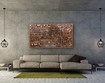 Large Wood Wall Art Etsy