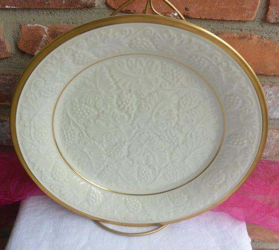 Lenox Platter Retired Plantation Pattern Embossed Grape