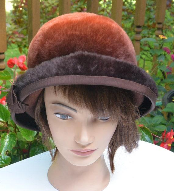 Elsa Schiaparelli Cloche Hat -  Caribou Fur, Schia