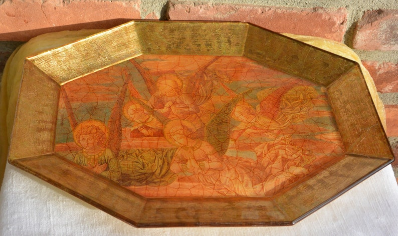 Lesley Roy Art Plater Minstrel Angels Illumination 24K Gold Gift to Pope Exquisite Vintage Fabulous!