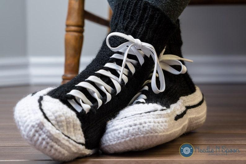 f1e886c746d9 Converse slippers crochet converse men women adult handmade