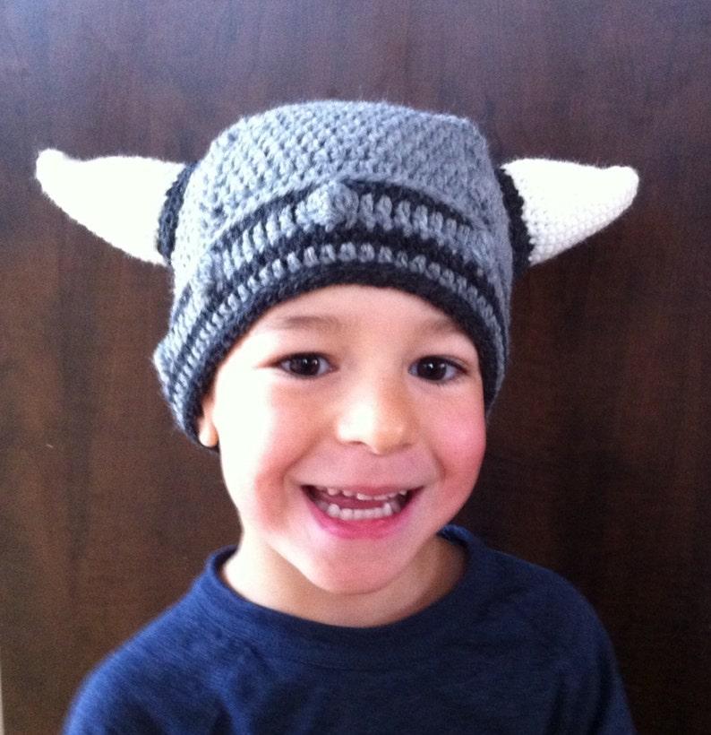 photo prop shower gift baby viking hat viking beanie with horns baby adult Crochet viking hat