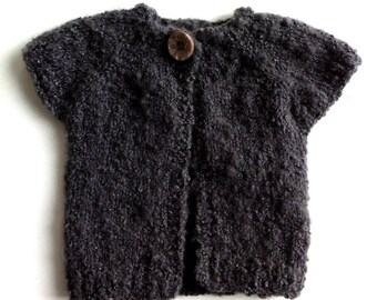 Hand knitted sweater for baby soft and curly