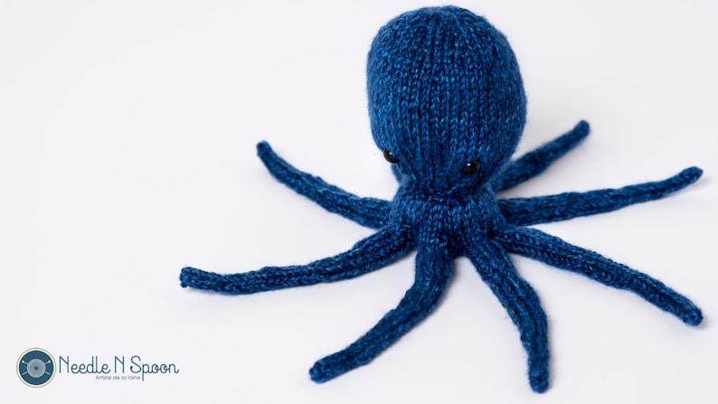 shower gift nautical octopus softie Blue octopus plush amigurumi baby toy