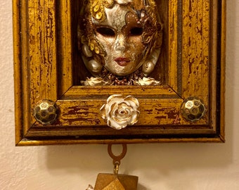 Livia Martin Design Mixed media Home decor Queen Bee Assemblage Art