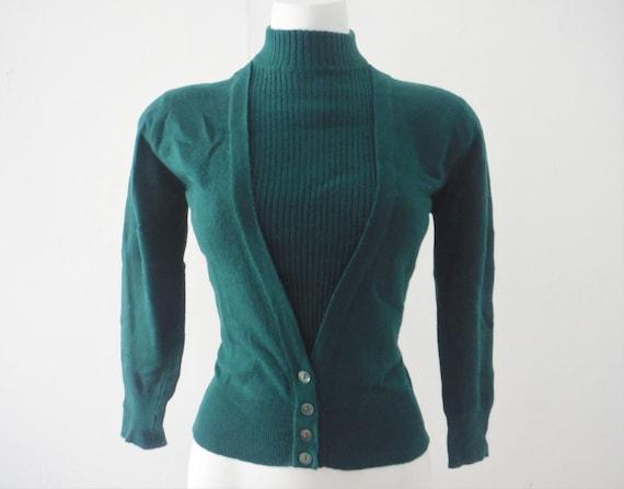 1950s Dalton Evergreen Fleece Cashmere Sweater