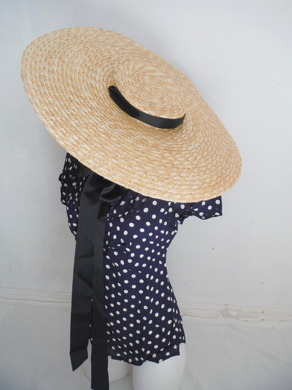 Amazing Vintage Style Hand Woven Wide Brimmed Eliu