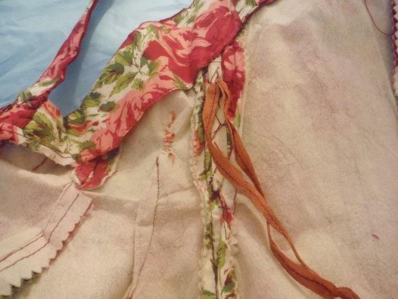 1950s Rose Print Cotton Sun Dress - image 7
