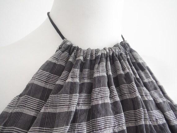Chic 1950s Plaid Chiffon Halter Dress - image 3