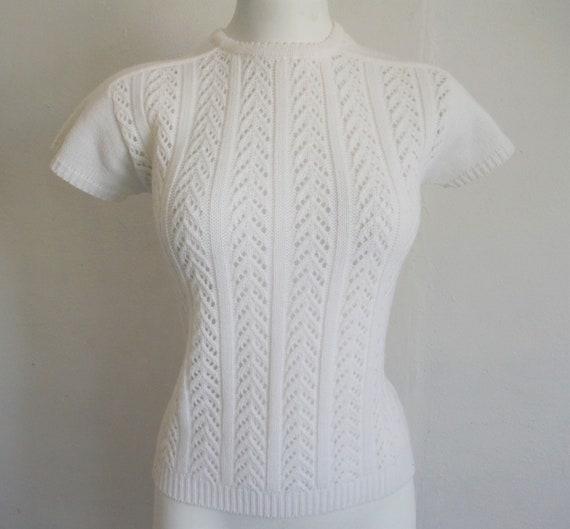 1950s Cream Lace Sweater