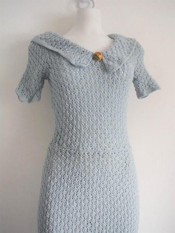 1930s Crochet Sweater Dress