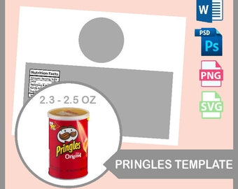 Custom Pringles Can 1.3oz Snack Can Pringle Can Wrapper Pringle Wrappers 2.5oz Snack Can Labels /& Wrap Pringle Can Wrapper