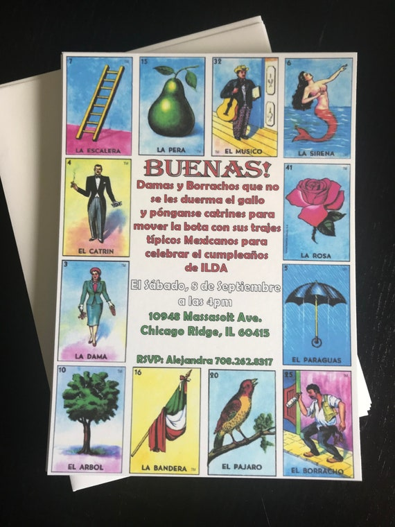 image regarding Printable Loteria Mexicana referred to as Fiesta Bash Invitation, Fiesta Birthday Invitation, Loteria
