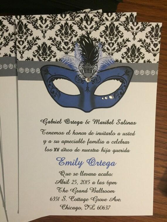 f5ddc020240 Masquerade Quince Invitations