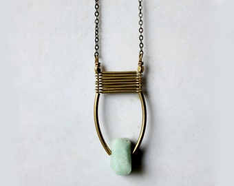 Emerald necklace gold natural emerald pendant necklace genuine emerald necklace emerald jewelry mint green modern minimalist boho jewelry
