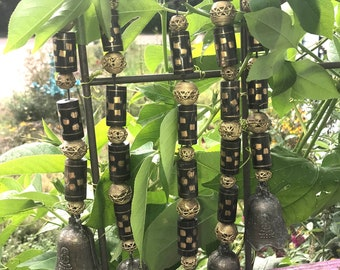African Bead Wind Chimes...Wall Hanging with Bells