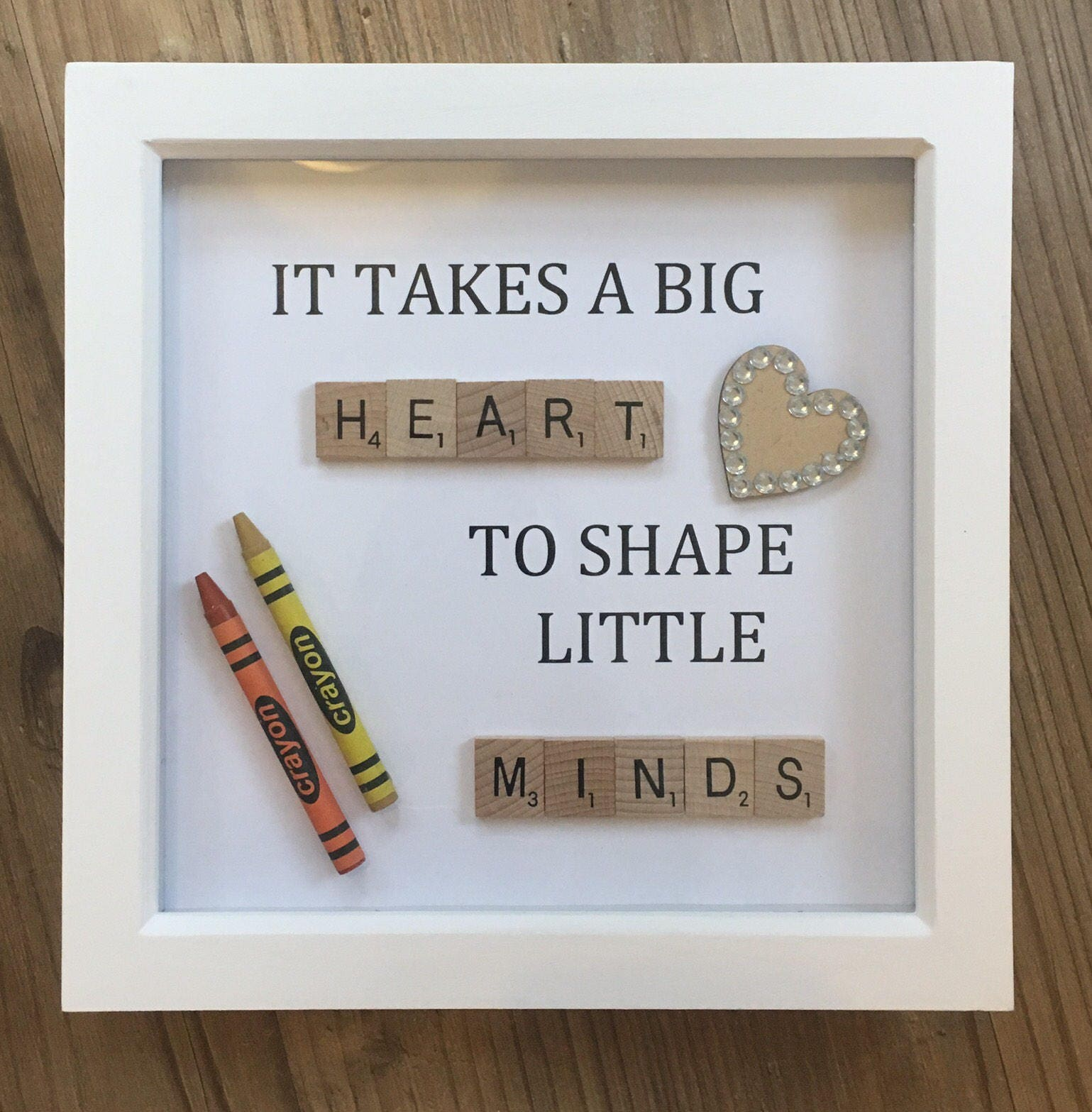It Takes A Big Heart To Shape Little Minds Teacher Gift Frame | Etsy