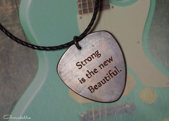 Custom Guitar Pick Necklace Large Classy Pick Etsy Extraordinary Clsssy Son Wuotes