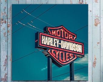 Harley Davidson sign Canvas arizona travel /Office Decor/California/large art/kid's room art/boy girl room decor/motorcycle sign