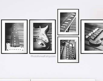 Fender electric guitar music art/music poster/guitar art/guitar wall art/guitar decor/wall decor/wall art/music decor/acoustic guitar print