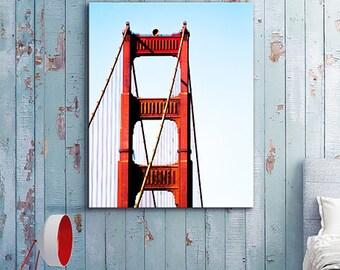 Golden Gate Bridge photography San Francisco Canvas California travel /Office Decor/California/large art/kid's room art/boy girl room decor