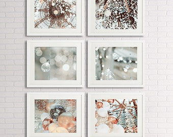 Mothers day gift Bathroom Wall Decor Set of 6 prints, galeries Lafayettes Paris photography, shabby chic decor