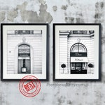 Black and white prints Paris Dior and Chanel prints Ikea frame fashion large wall art, Gift for Her, Bathroom wall decor