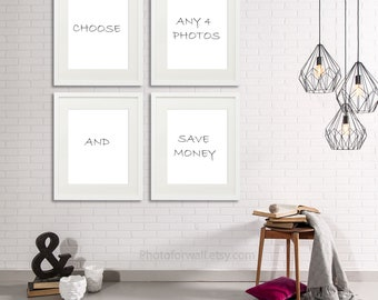 Choose A Set of 4 Photographs on photographic paper in all the shop designed by Albane L.