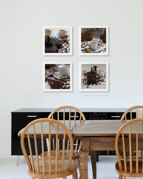 kitchen art/Kitchen wall decor/food Photography/set of 4 prints, large wall  art /coffee/gift for her/food poster/food print/food wall art