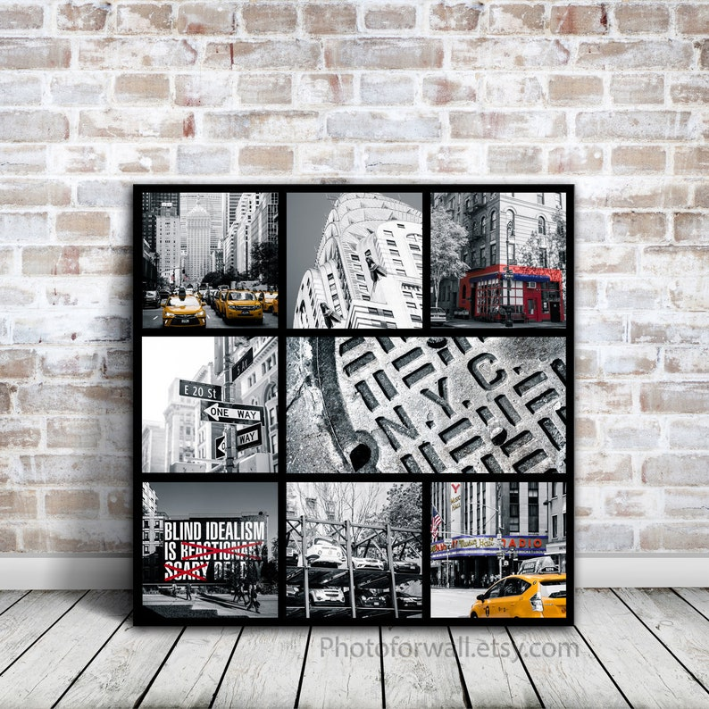 First Anniversary Gift For Him With New York Canvas Wall Art