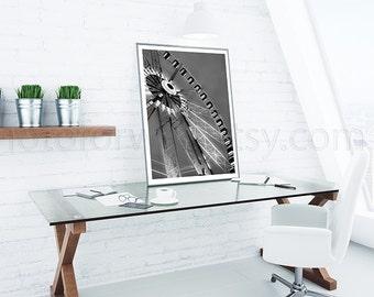 Black and white photography, Paris Photography, ferris wheel, french decor, paris bedroom decor, personalized decor, Paris wall art decor