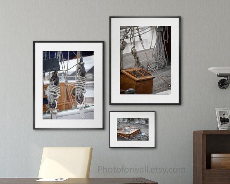 Boat photography Boat wall decor Boat gallery wall art set image 0