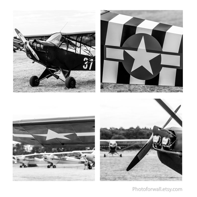 Airplane wall print Black and white print airplane wall decor image 0
