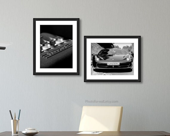 Framed Picture Poster Print Ferrari 488 GTB 30x20 Inch Canvas Art
