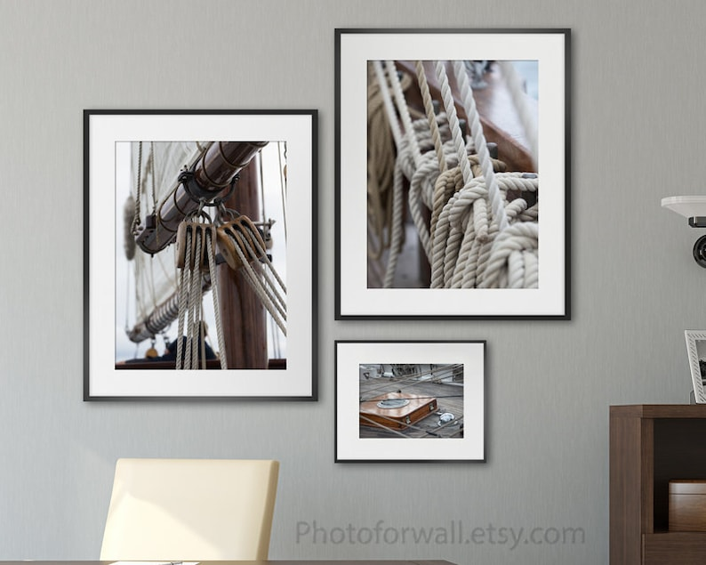 Boat wall decor Boat gallery wall art set of 3 prints boat image 0