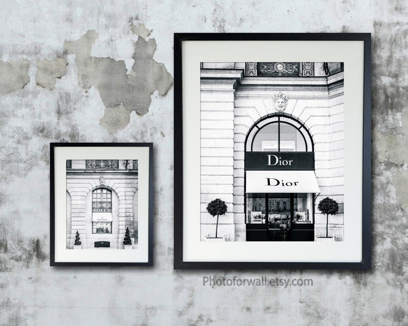 Laundry room sign with Dior and Rolex prints fashion wall art image 0