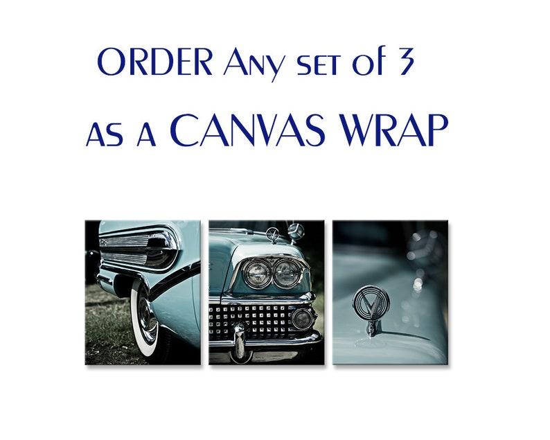 Set of 3 prints canvas art/personalized wall decor/newborn boy image 0
