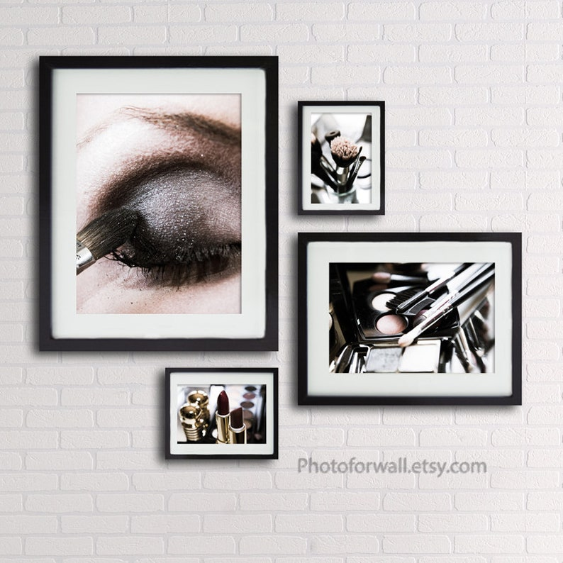 Bathroom wall decor with makeup photography makeup print image 0