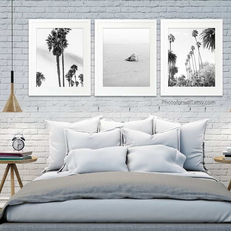 Los Angeles Palm Trees Wall decor black and white prints image 0