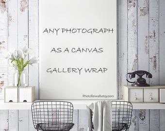 Canvas art Order Any Photo as Canvas Gallery Wrap, oversized art Canvas, Large Wall Art, Paris New York, Bathroom wall decor