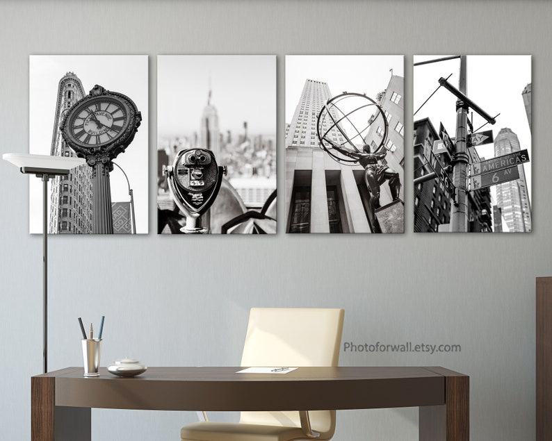 Gallery wall set New York wall art in Black and white set of 3 50x75cm - 20x30 inches