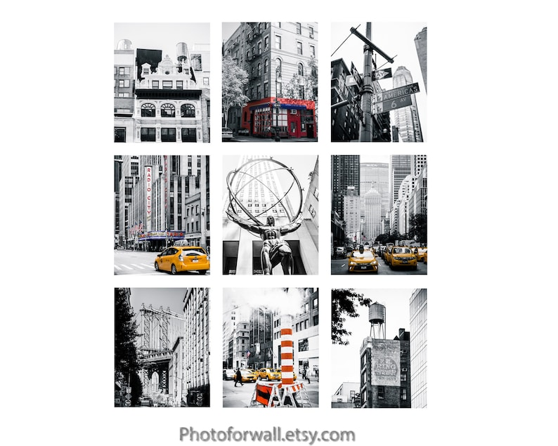 Black and white New York Prints photography gallery wall with image 0